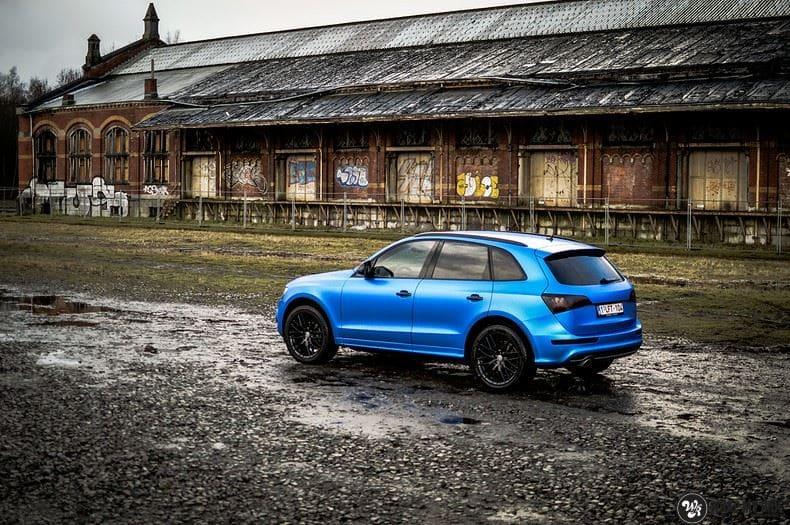 Audi Q5 Satin Perfect Bleu, Carwrapping door Wrapmyride.nu Foto-nr:9493, ©2019