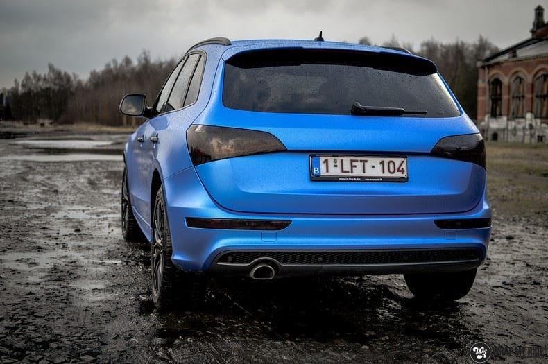 Audi Q5 Satin Perfect Bleu, Carwrapping door Wrapmyride.nu Foto-nr:9494, ©2020