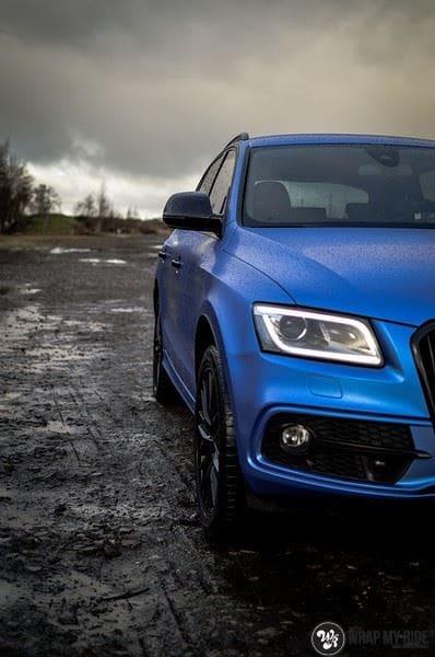 Audi Q5 Satin Perfect Bleu, Carwrapping door Wrapmyride.nu Foto-nr:9495, ©2019
