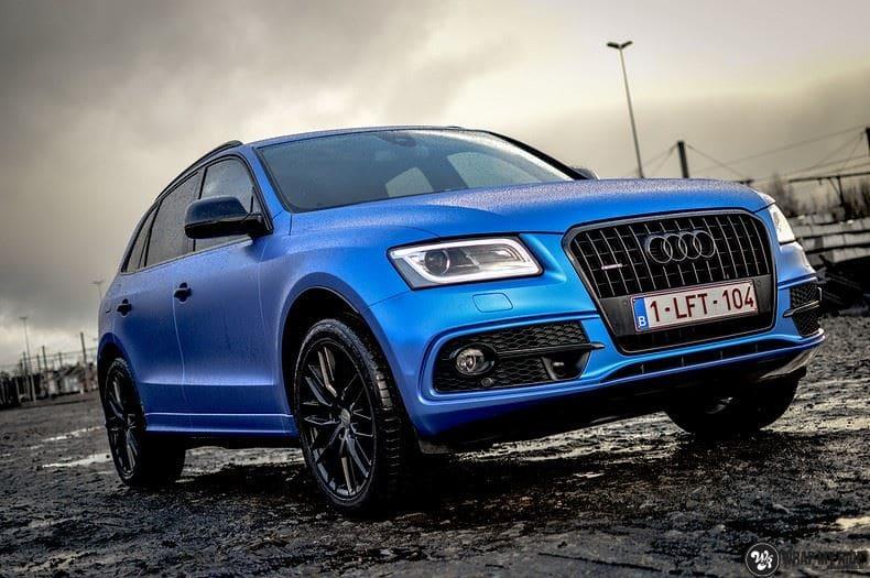 Audi Q5 Satin Perfect Bleu, Carwrapping door Wrapmyride.nu Foto-nr:9496, ©2019