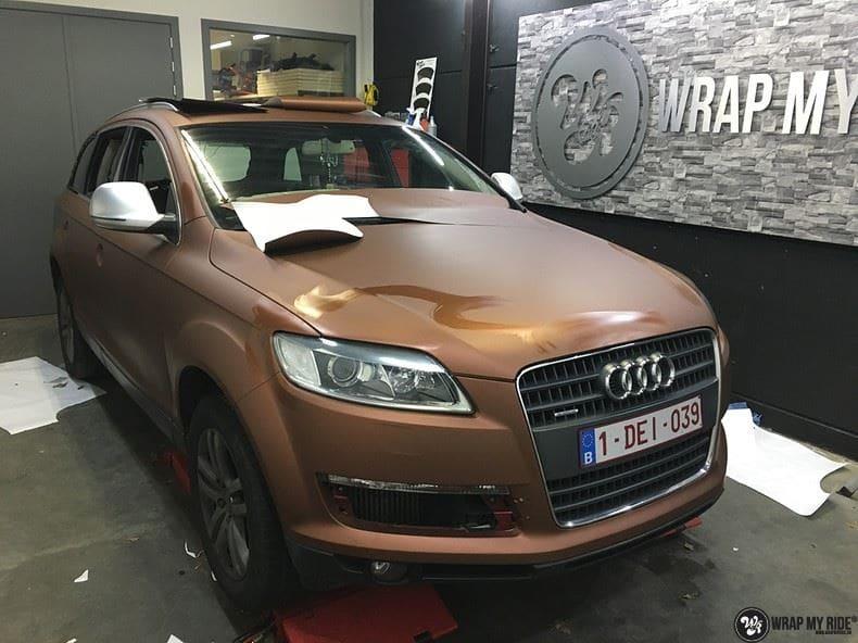 Audi Q7 Arlon Aztec Bronze, Carwrapping door Wrapmyride.nu Foto-nr:9407, ©2021