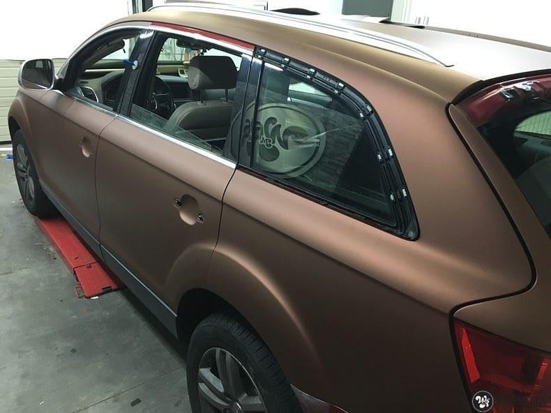 Audi Q7 Arlon Aztec Bronze, Carwrapping door Wrapmyride.nu Foto-nr:9399, ©2021