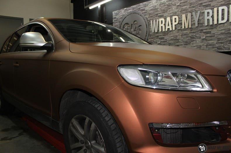 Audi Q7 Arlon Aztec Bronze, Carwrapping door Wrapmyride.nu Foto-nr:9391, ©2021