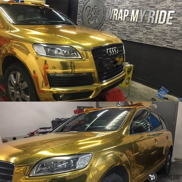 Audi Q7 Gold Chrome, Carwrapping door Wrapmyride.nu Foto-nr:8819, ©2020