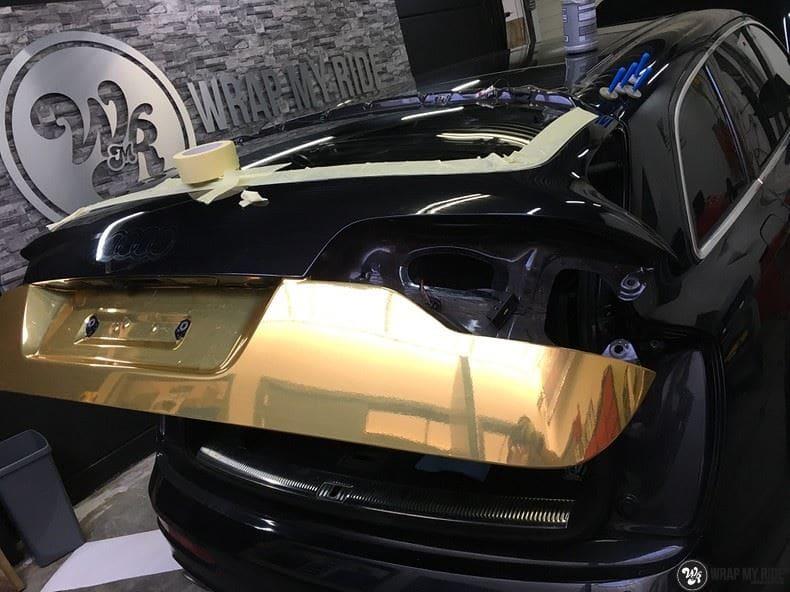Audi Q7 Gold Chrome, Carwrapping door Wrapmyride.nu Foto-nr:8823, ©2021