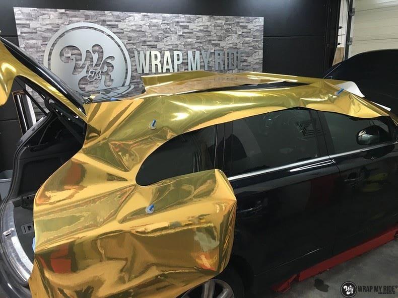 Audi Q7 Gold Chrome, Carwrapping door Wrapmyride.nu Foto-nr:8825, ©2018