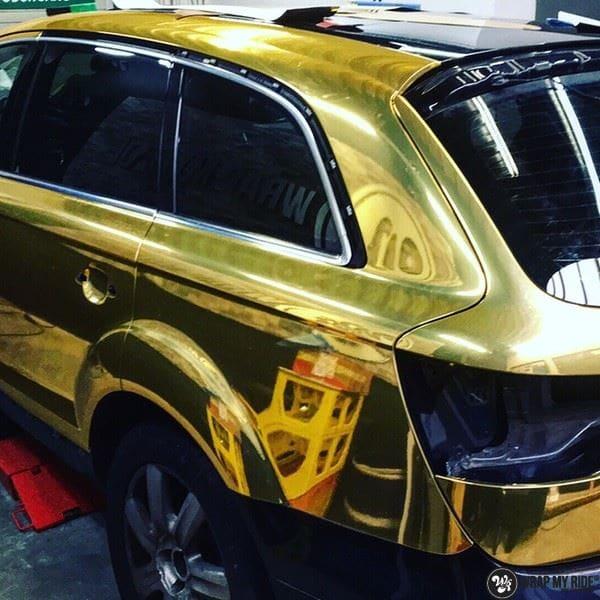 Audi Q7 Gold Chrome, Carwrapping door Wrapmyride.nu Foto-nr:8822, ©2018