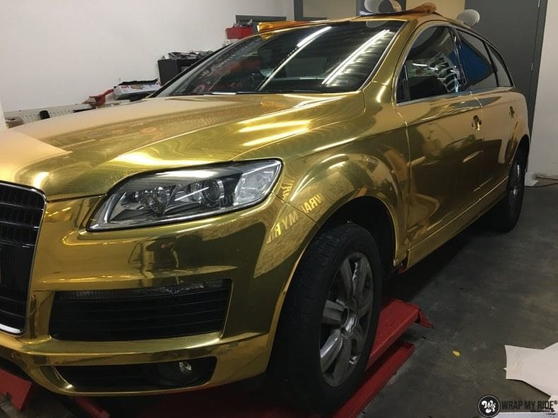 Audi Q7 Gold Chrome, Carwrapping door Wrapmyride.nu Foto-nr:8820, ©2018
