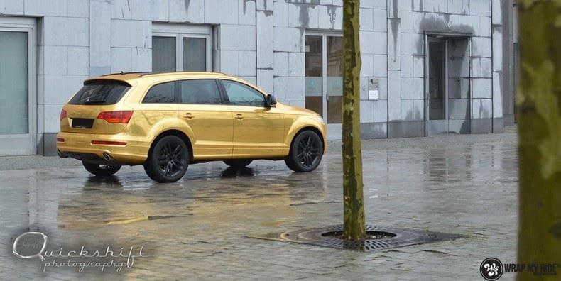 Audi Q7 Gold Chrome, Carwrapping door Wrapmyride.nu Foto-nr:8813, ©2018