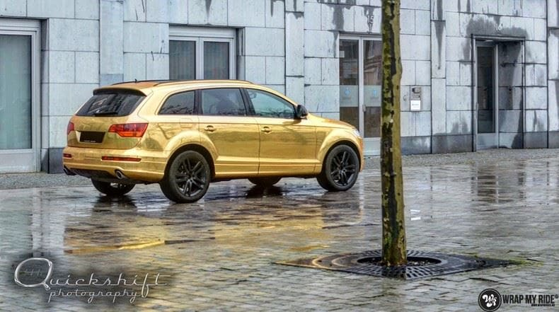 Audi Q7 Gold Chrome, Carwrapping door Wrapmyride.nu Foto-nr:8814, ©2018