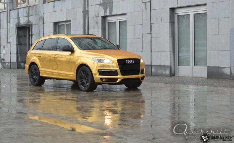 Audi Q7 Gold Chrome, Carwrapping door Wrapmyride.nu Foto-nr:8815, ©2018