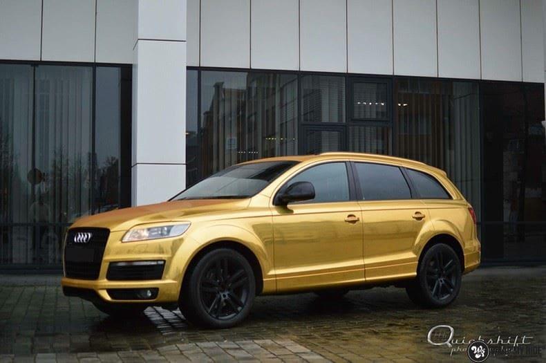 Audi Q7 Gold Chrome, Carwrapping door Wrapmyride.nu Foto-nr:8816, ©2018