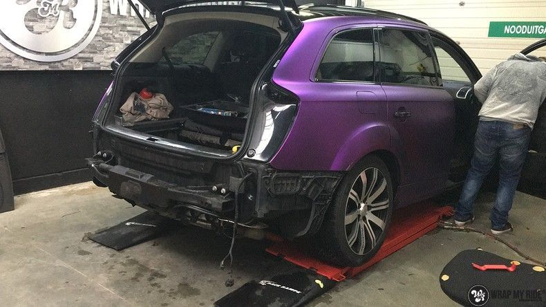 Audi Q7 mat paars chrome, Carwrapping door Wrapmyride.nu Foto-nr:10635, ©2021
