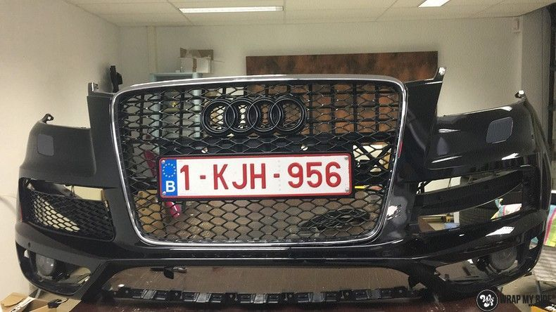 Audi Q7 mat paars chrome, Carwrapping door Wrapmyride.nu Foto-nr:10616, ©2020