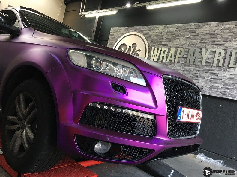 Audi Q7 mat paars chrome, Carwrapping door Wrapmyride.nu Foto-nr:10626, ©2018