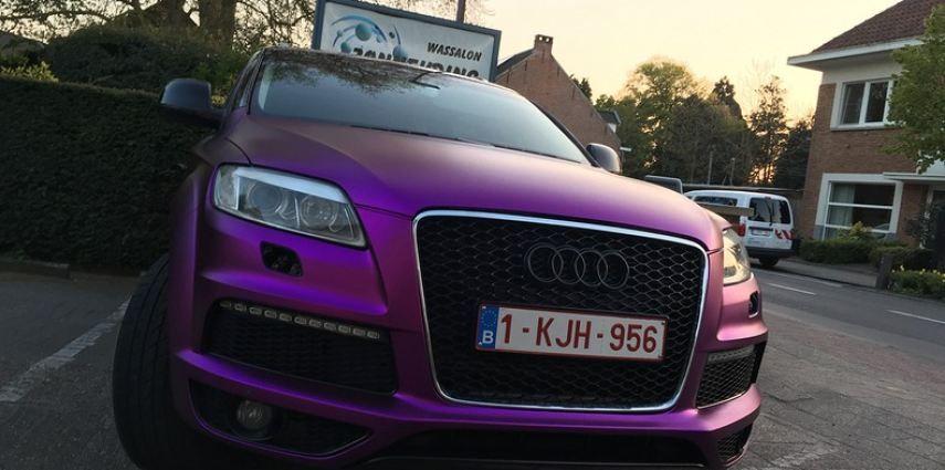 Audi Q7 mat paars chrome