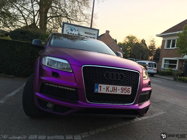 Audi Q7 mat paars chrome, Carwrapping door Wrapmyride.nu Foto-nr:10627, ©2020