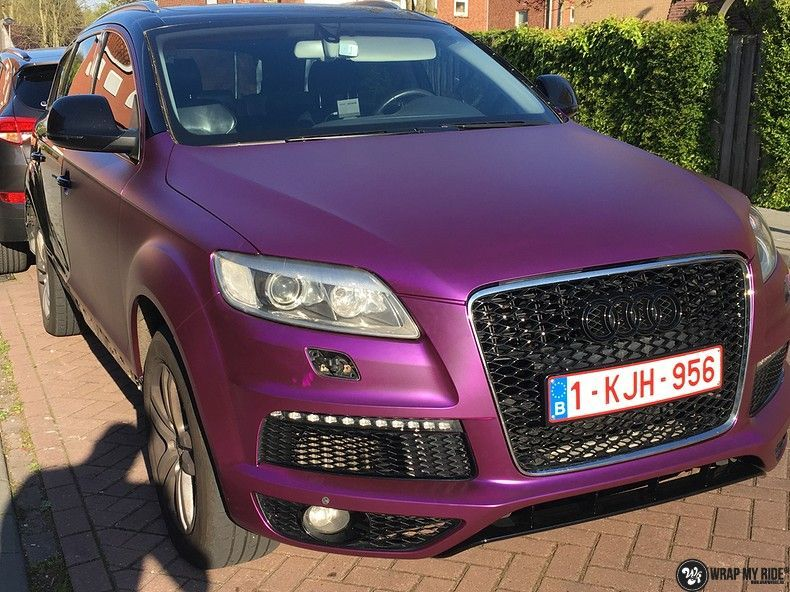 Audi Q7 mat paars chrome, Carwrapping door Wrapmyride.nu Foto-nr:10623, ©2018