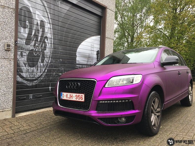 Audi Q7 mat paars chrome, Carwrapping door Wrapmyride.nu Foto-nr:10621, ©2018
