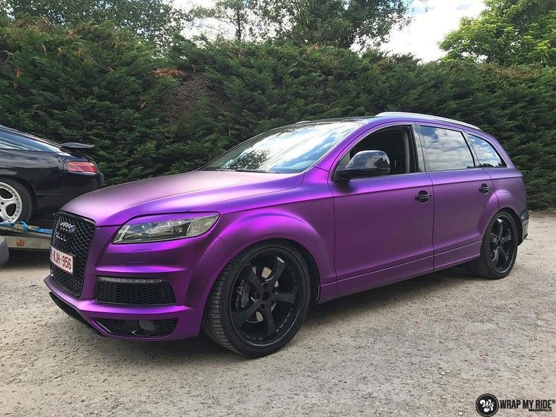 Audi Q7 mat paars chrome, Carwrapping door Wrapmyride.nu Foto-nr:10629, ©2020