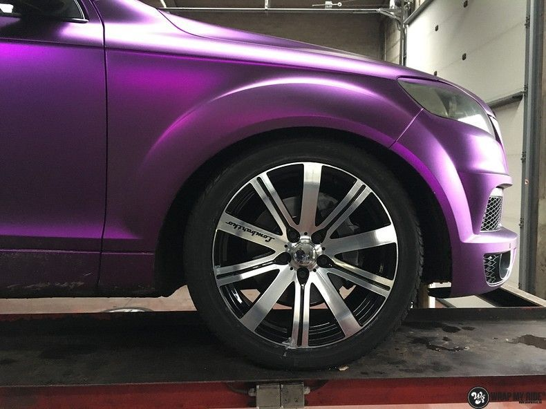 Audi Q7 mat paars chrome, Carwrapping door Wrapmyride.nu Foto-nr:10633, ©2018