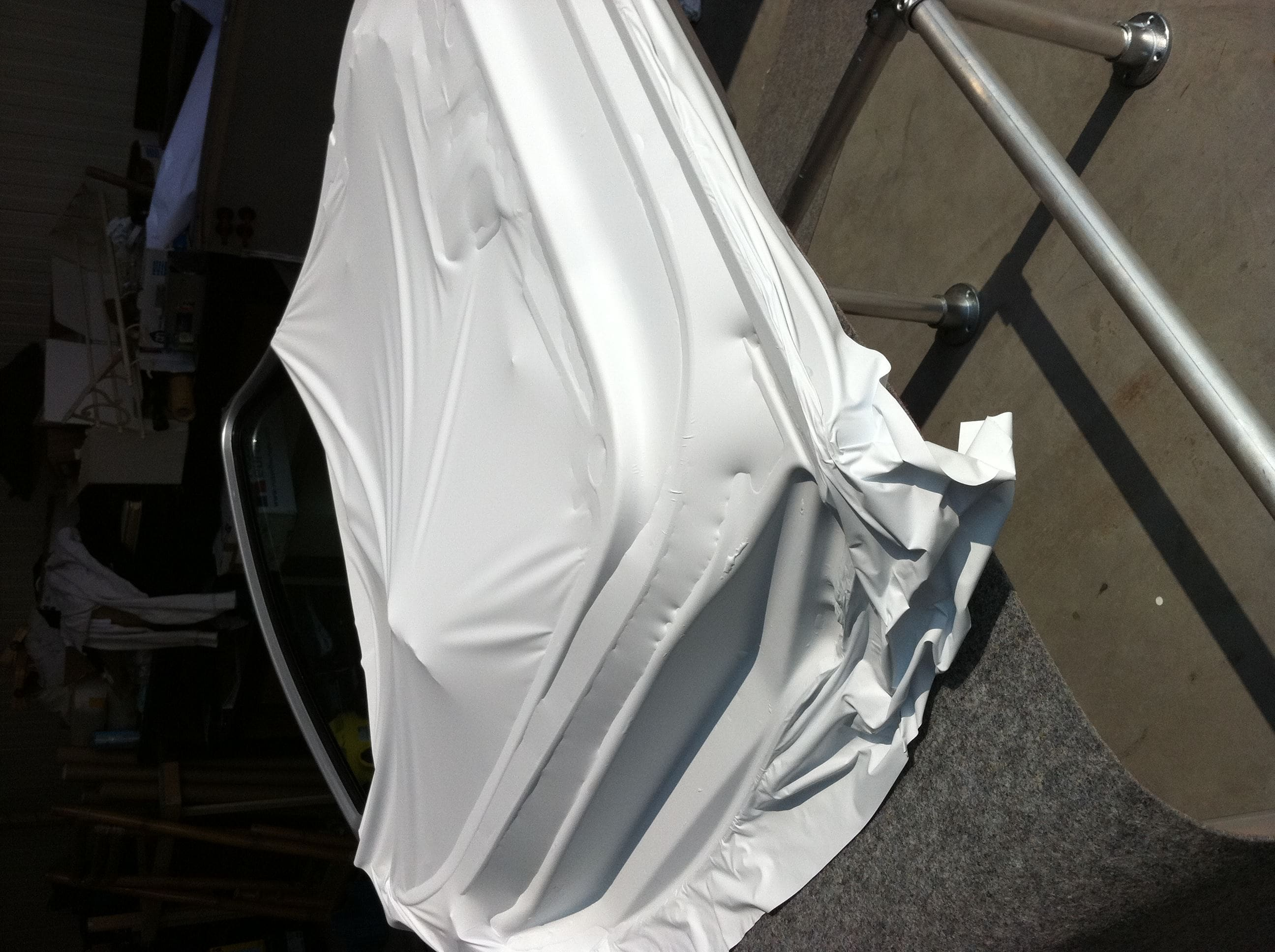 Audi Q7 met Mat Witte Wrap, Carwrapping door Wrapmyride.nu Foto-nr:4914, ©2021
