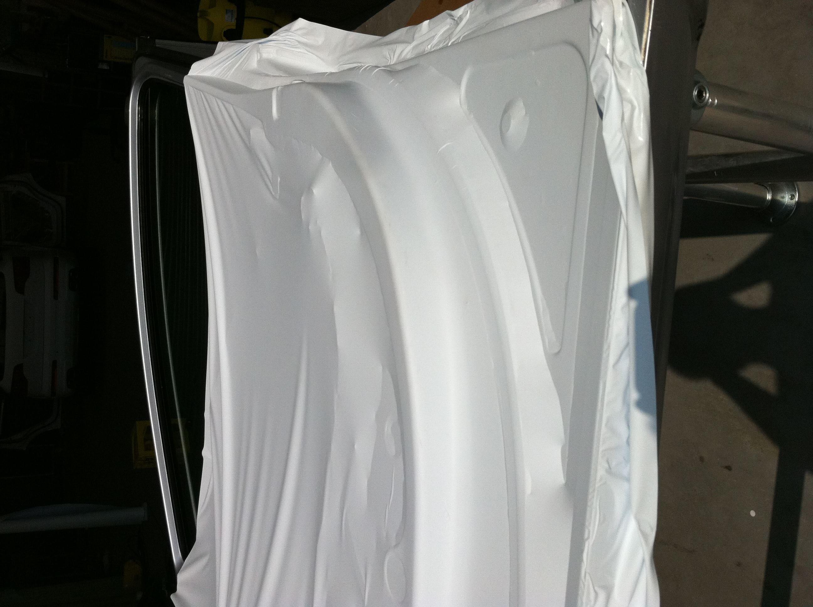Audi Q7 met Mat Witte Wrap, Carwrapping door Wrapmyride.nu Foto-nr:4915, ©2021