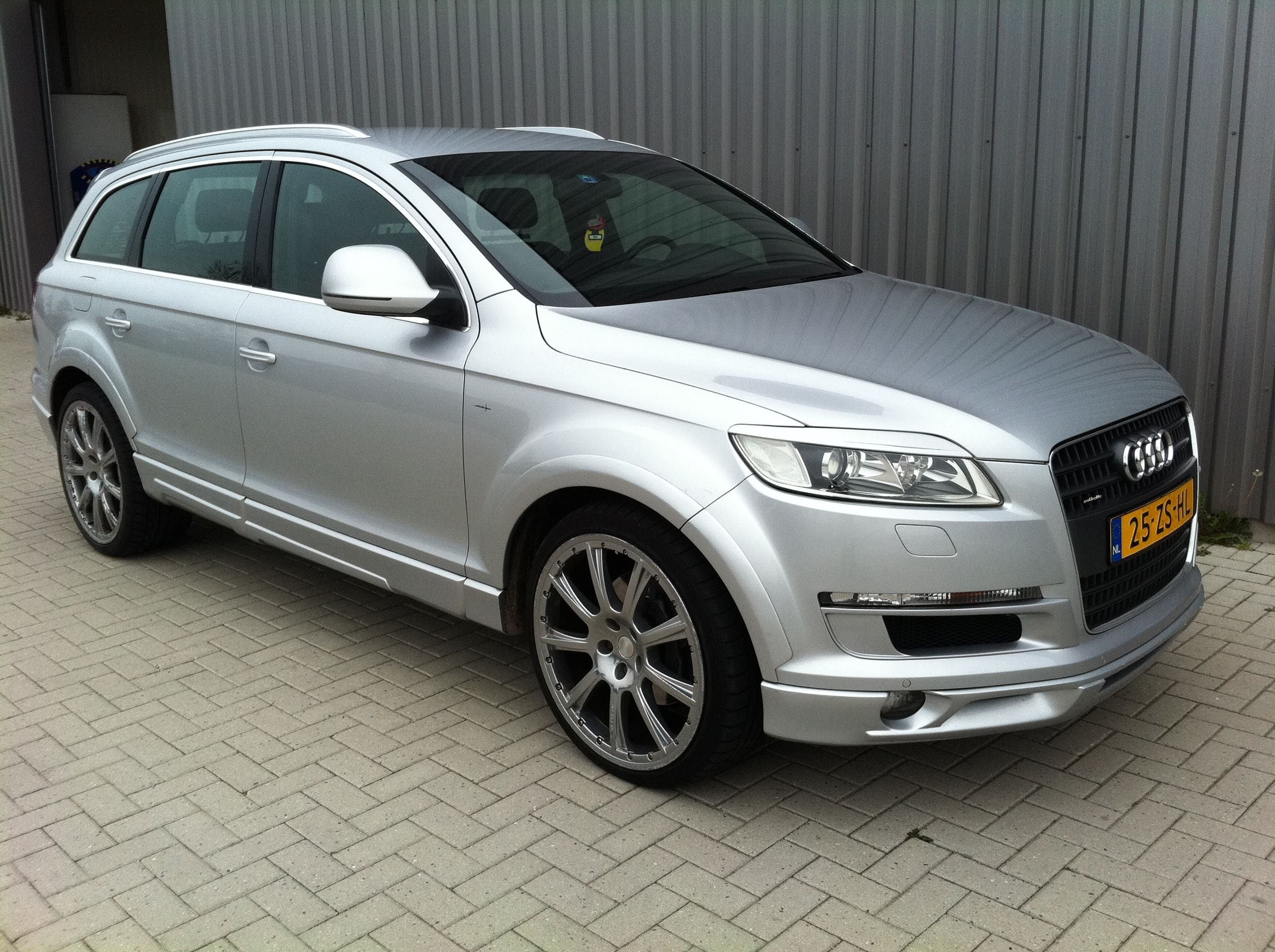 Audi Q7 met Mat Witte Wrap, Carwrapping door Wrapmyride.nu Foto-nr:4917, ©2021
