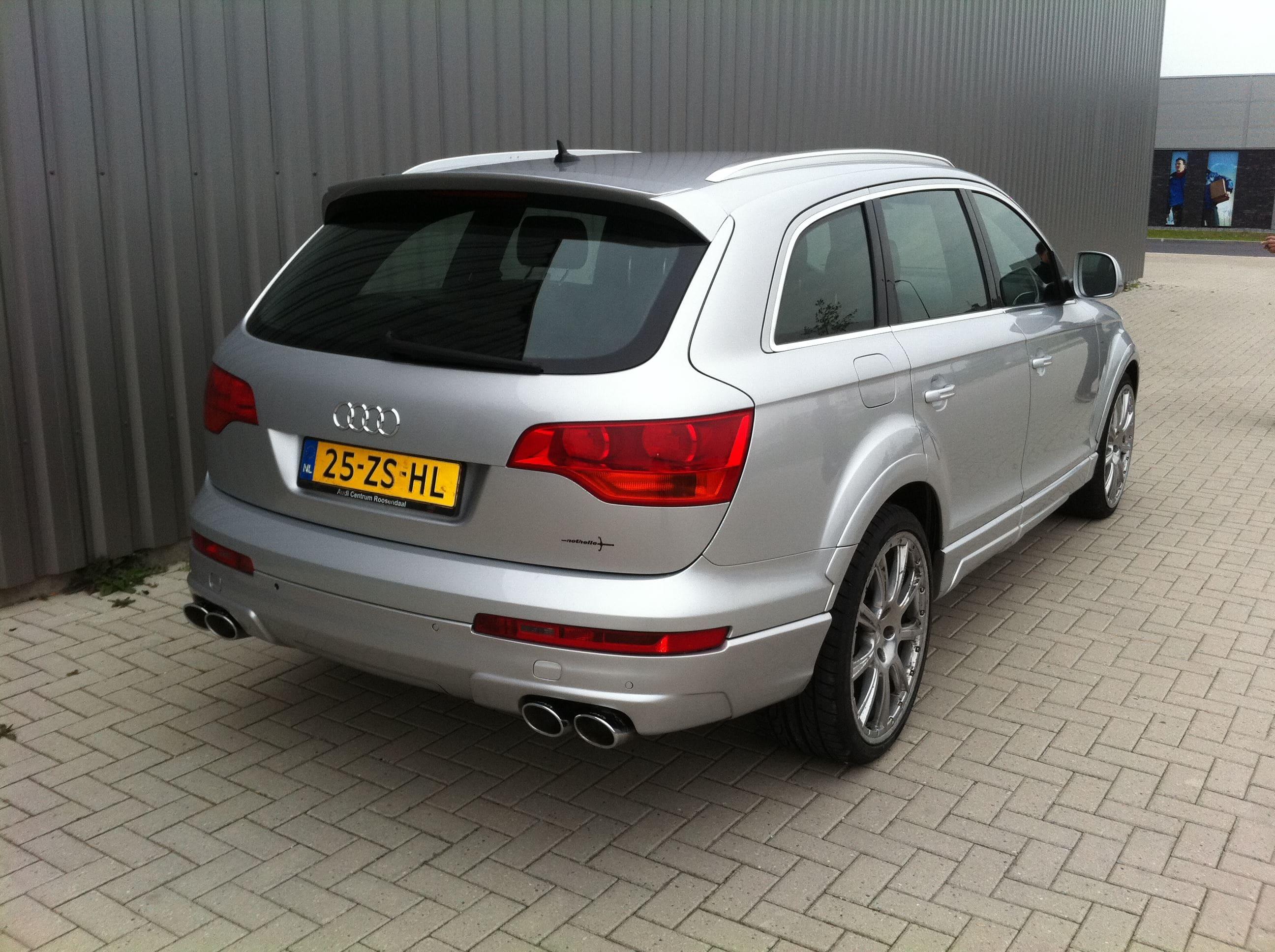 Audi Q7 met Mat Witte Wrap, Carwrapping door Wrapmyride.nu Foto-nr:4918, ©2021