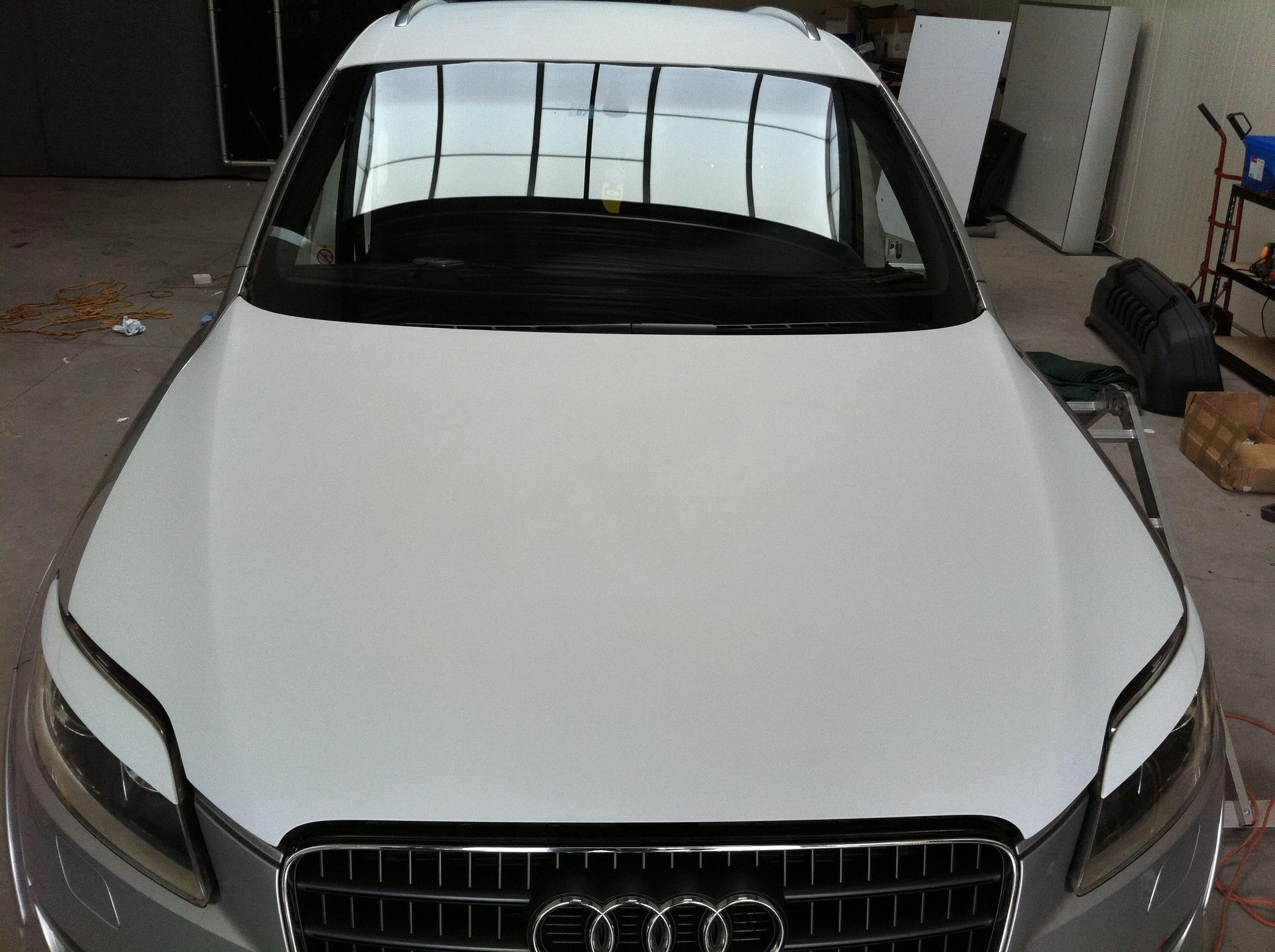 Audi Q7 met Mat Witte Wrap, Carwrapping door Wrapmyride.nu Foto-nr:4919, ©2021