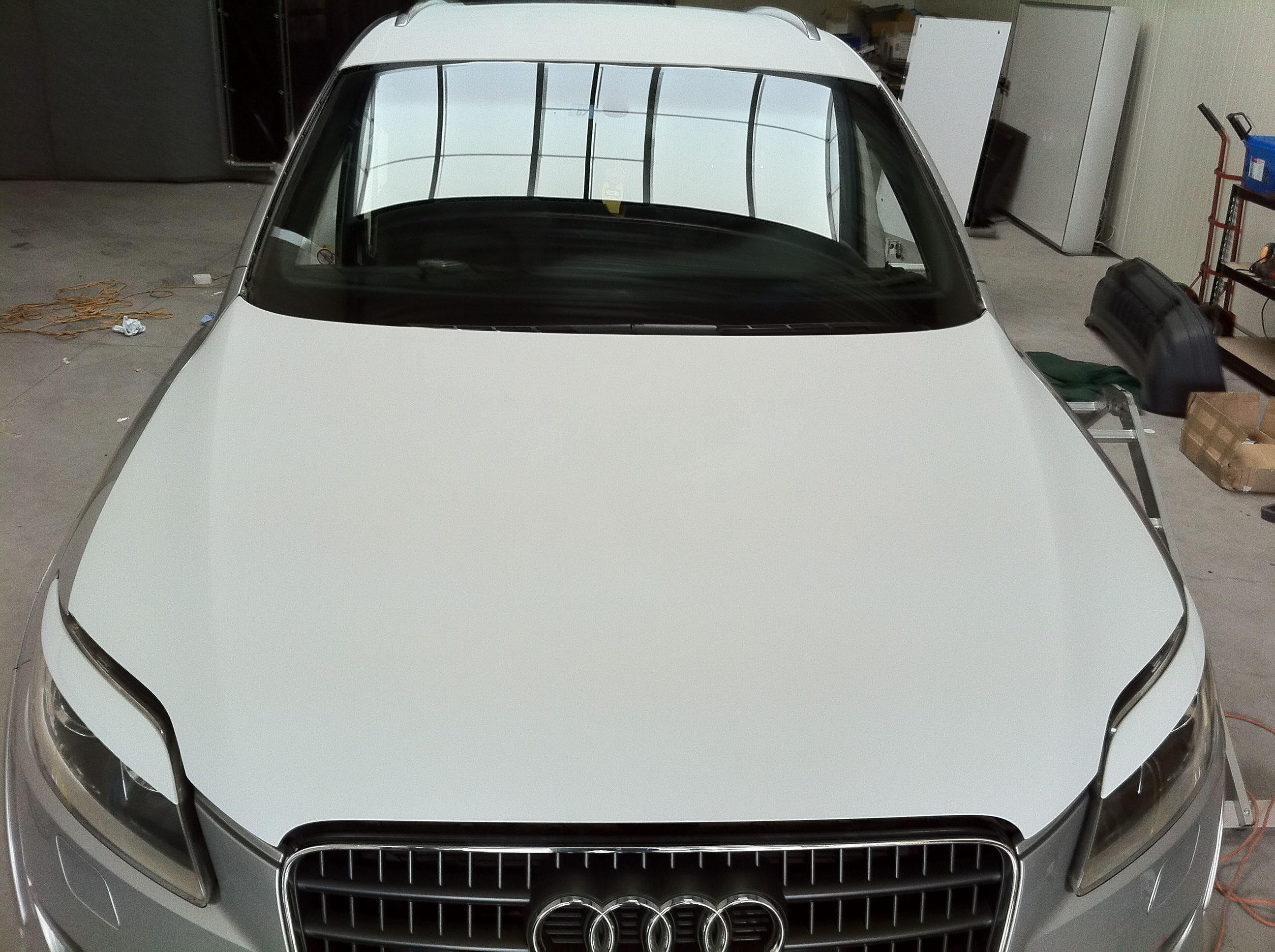 Audi Q7 met Mat Witte Wrap, Carwrapping door Wrapmyride.nu Foto-nr:4920, ©2021