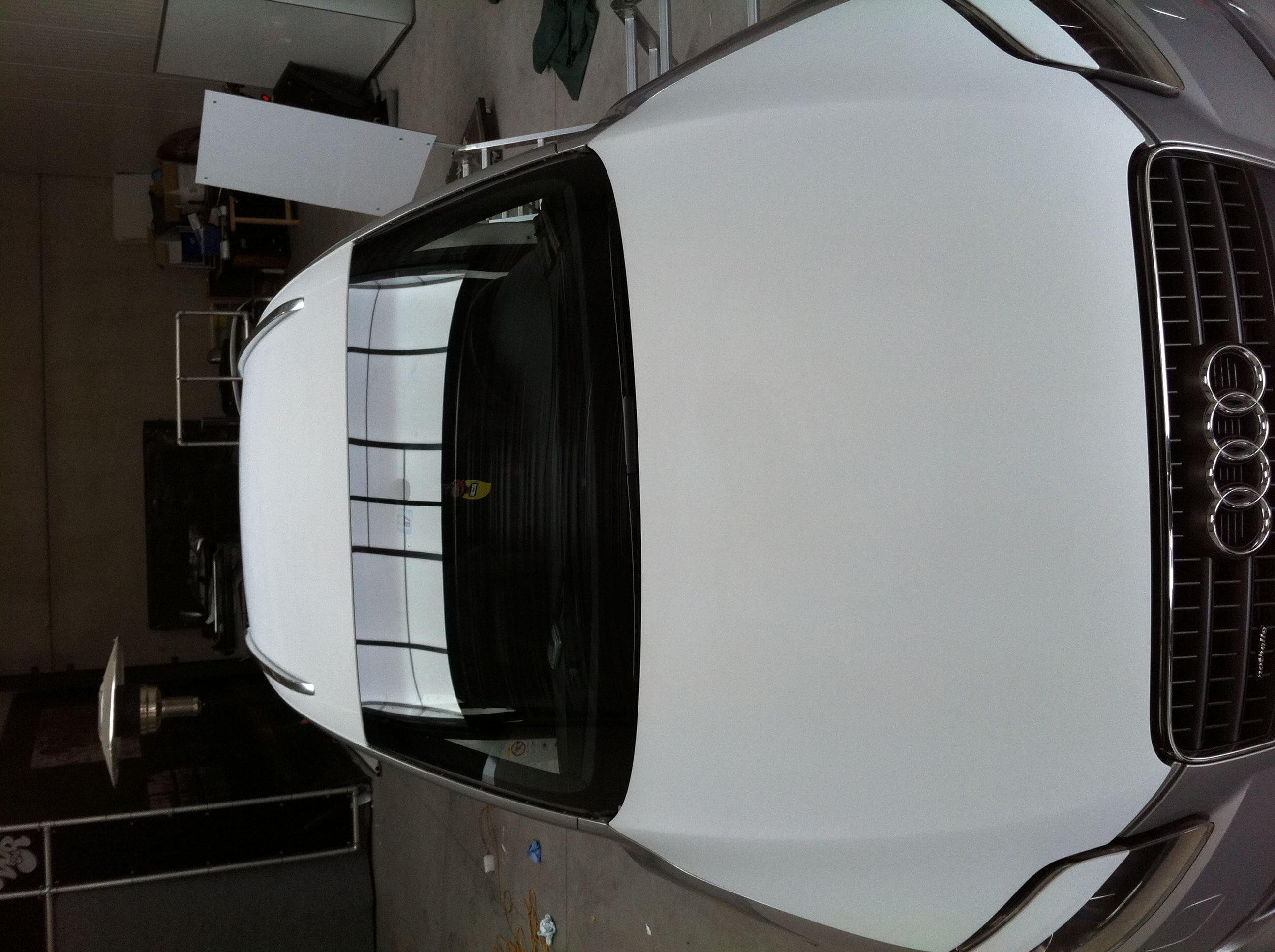 Audi Q7 met Mat Witte Wrap, Carwrapping door Wrapmyride.nu Foto-nr:4921, ©2021
