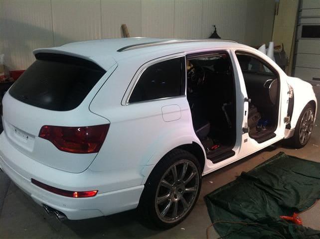 Audi Q7 met Mat Witte Wrap, Carwrapping door Wrapmyride.nu Foto-nr:4923, ©2021