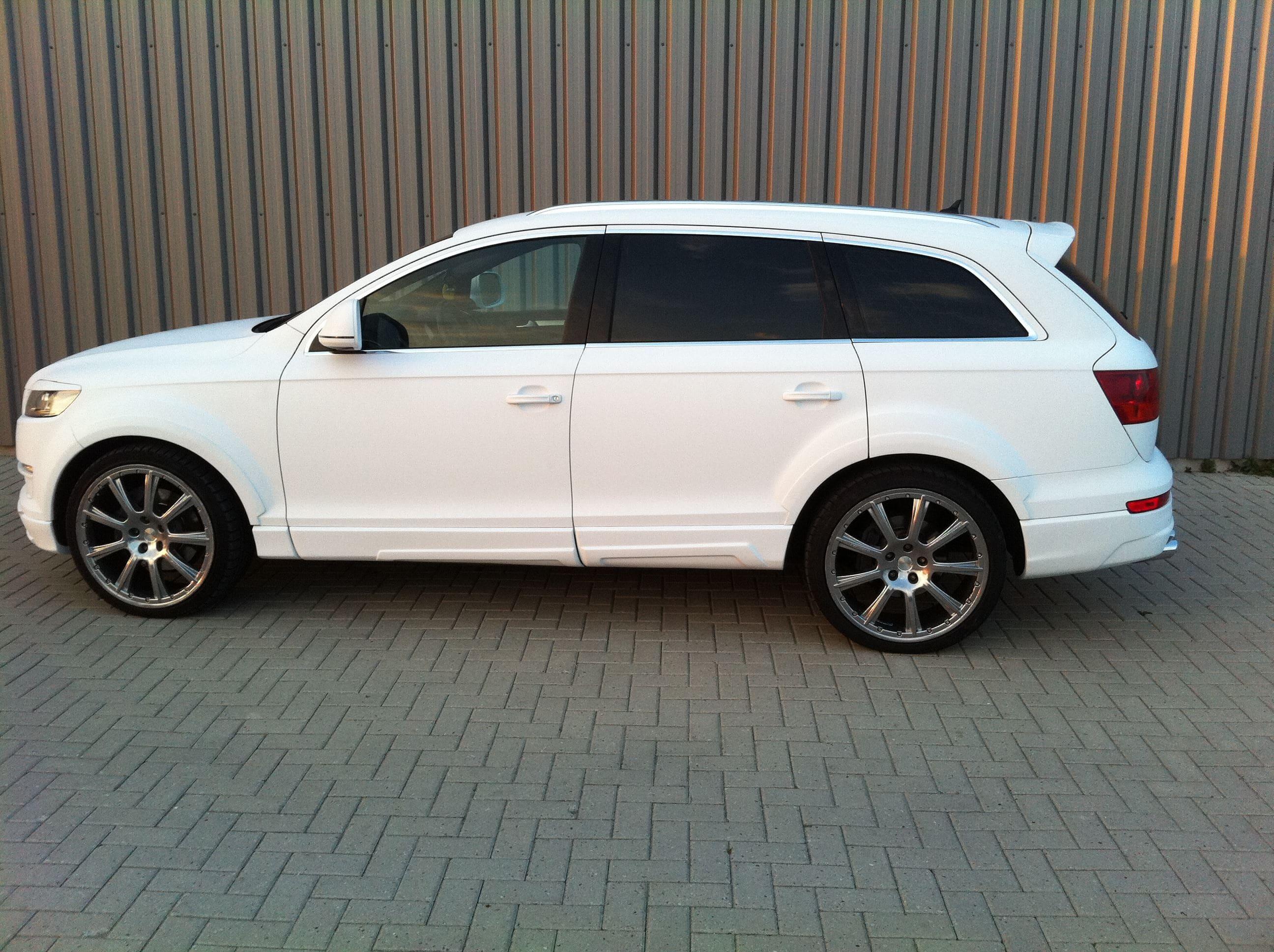 Audi Q7 met Mat Witte Wrap, Carwrapping door Wrapmyride.nu Foto-nr:4926, ©2021