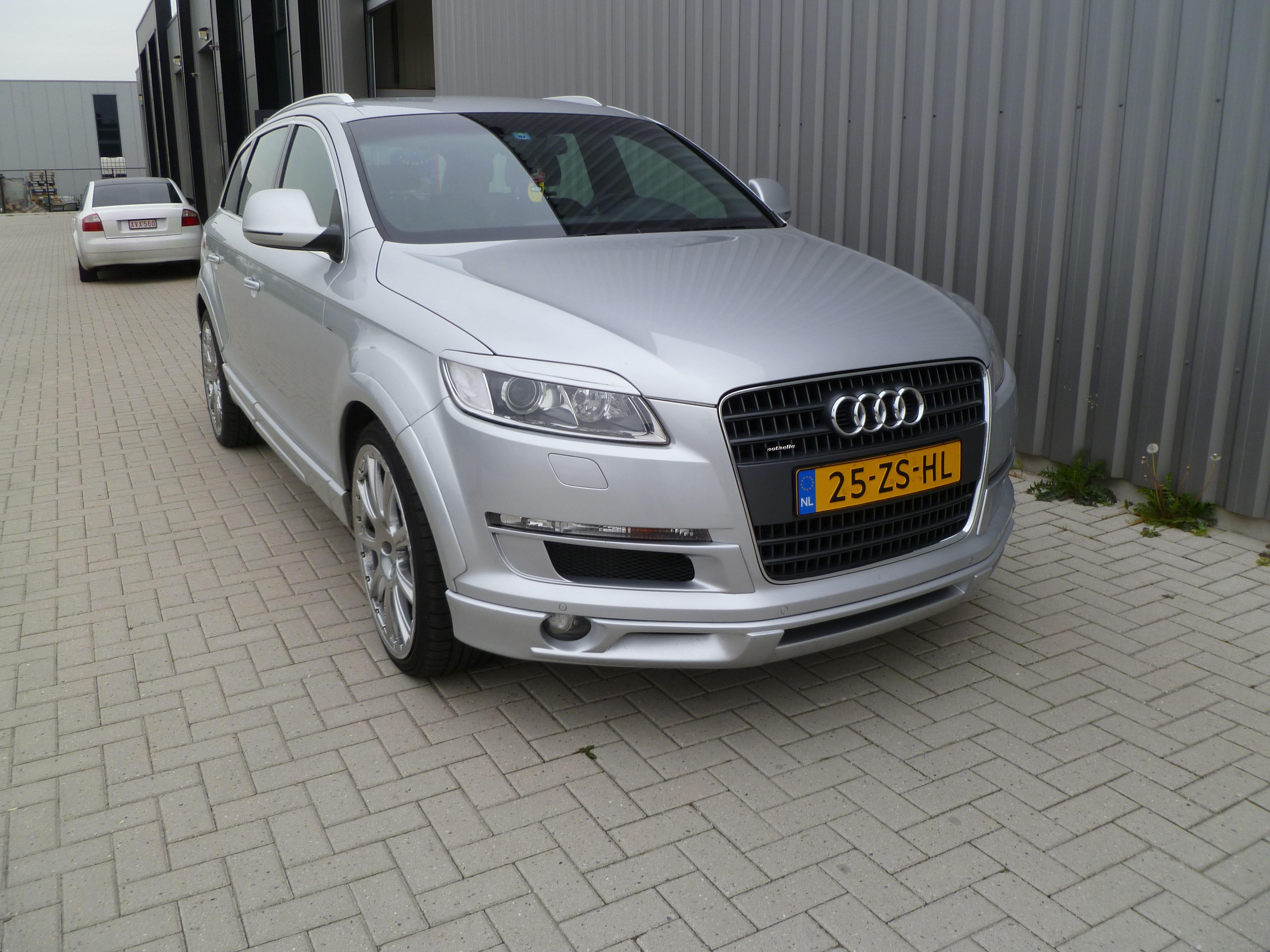 Audi Q7 met Mat Witte Wrap, Carwrapping door Wrapmyride.nu Foto-nr:4934, ©2021
