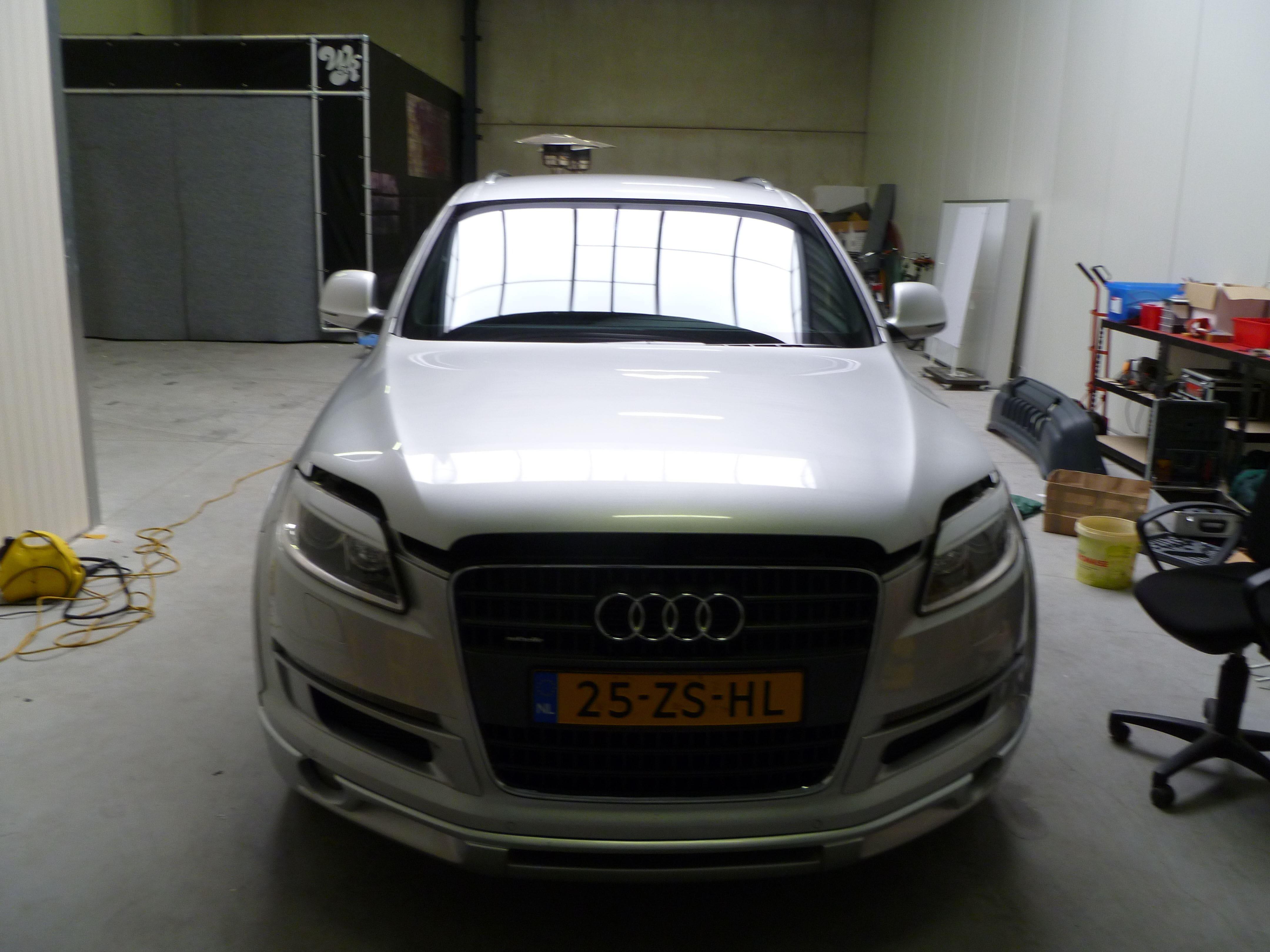 Audi Q7 met Mat Witte Wrap, Carwrapping door Wrapmyride.nu Foto-nr:4951, ©2021