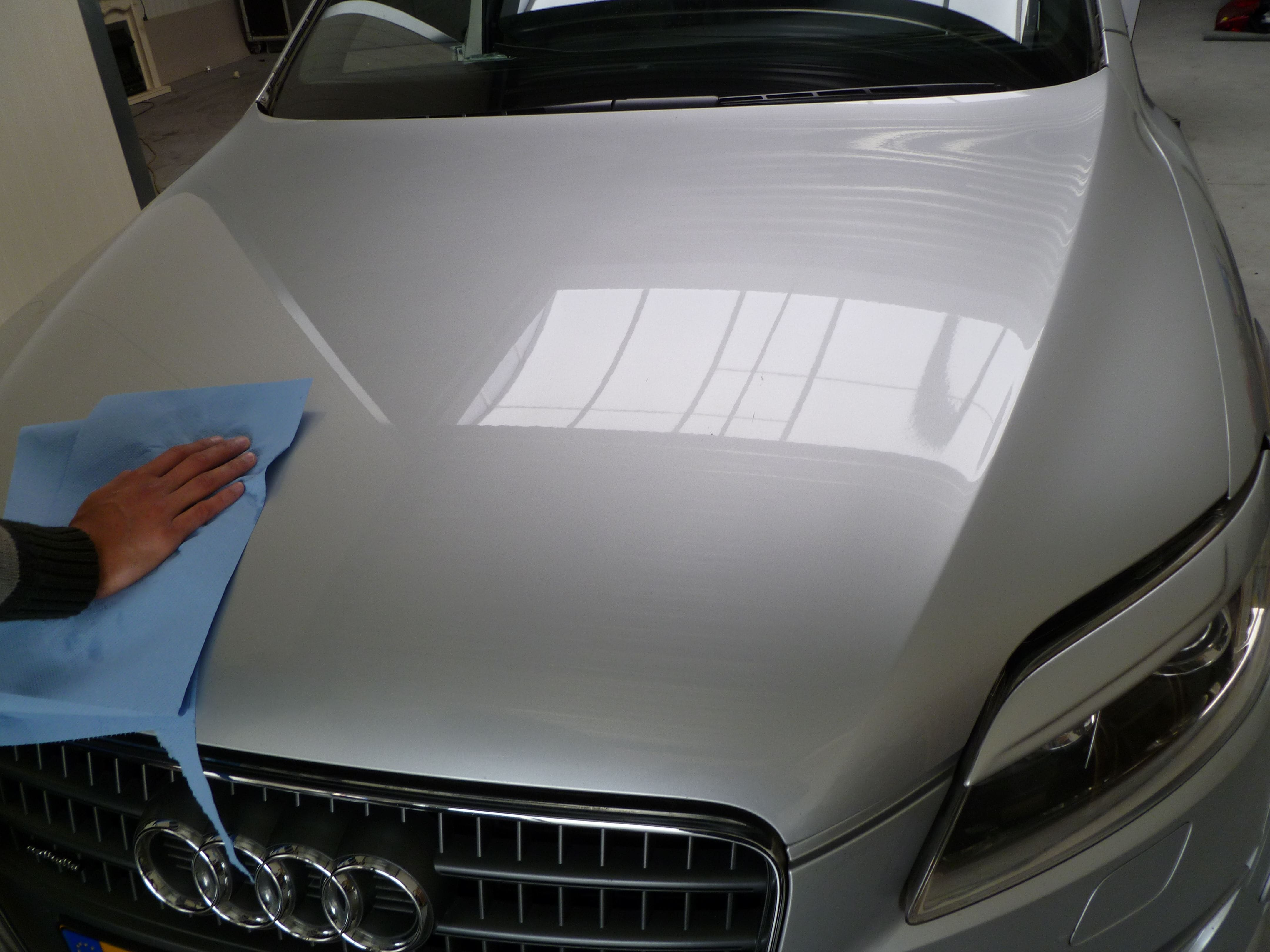 Audi Q7 met Mat Witte Wrap, Carwrapping door Wrapmyride.nu Foto-nr:4962, ©2021
