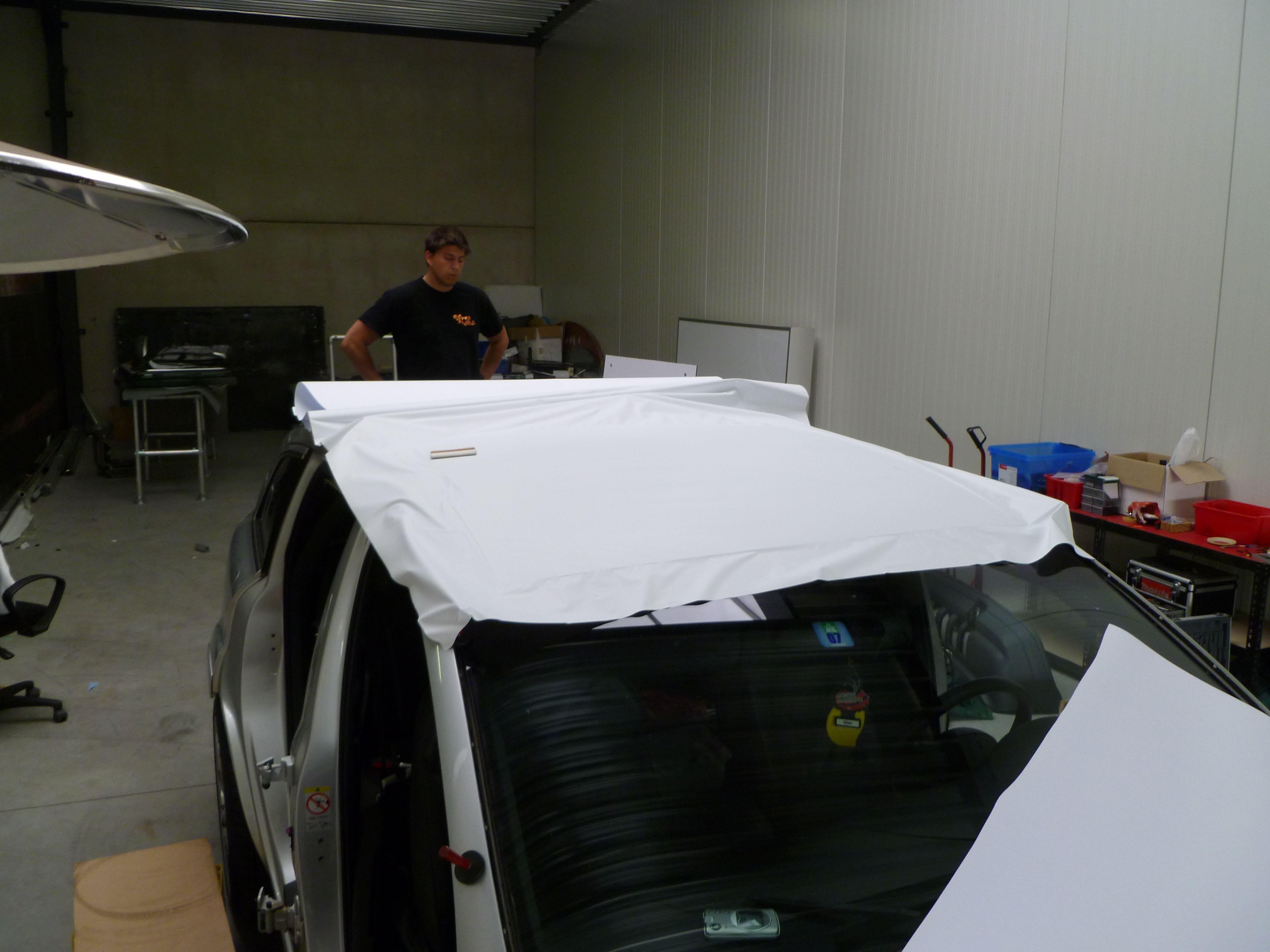 Audi Q7 met Mat Witte Wrap, Carwrapping door Wrapmyride.nu Foto-nr:4969, ©2021