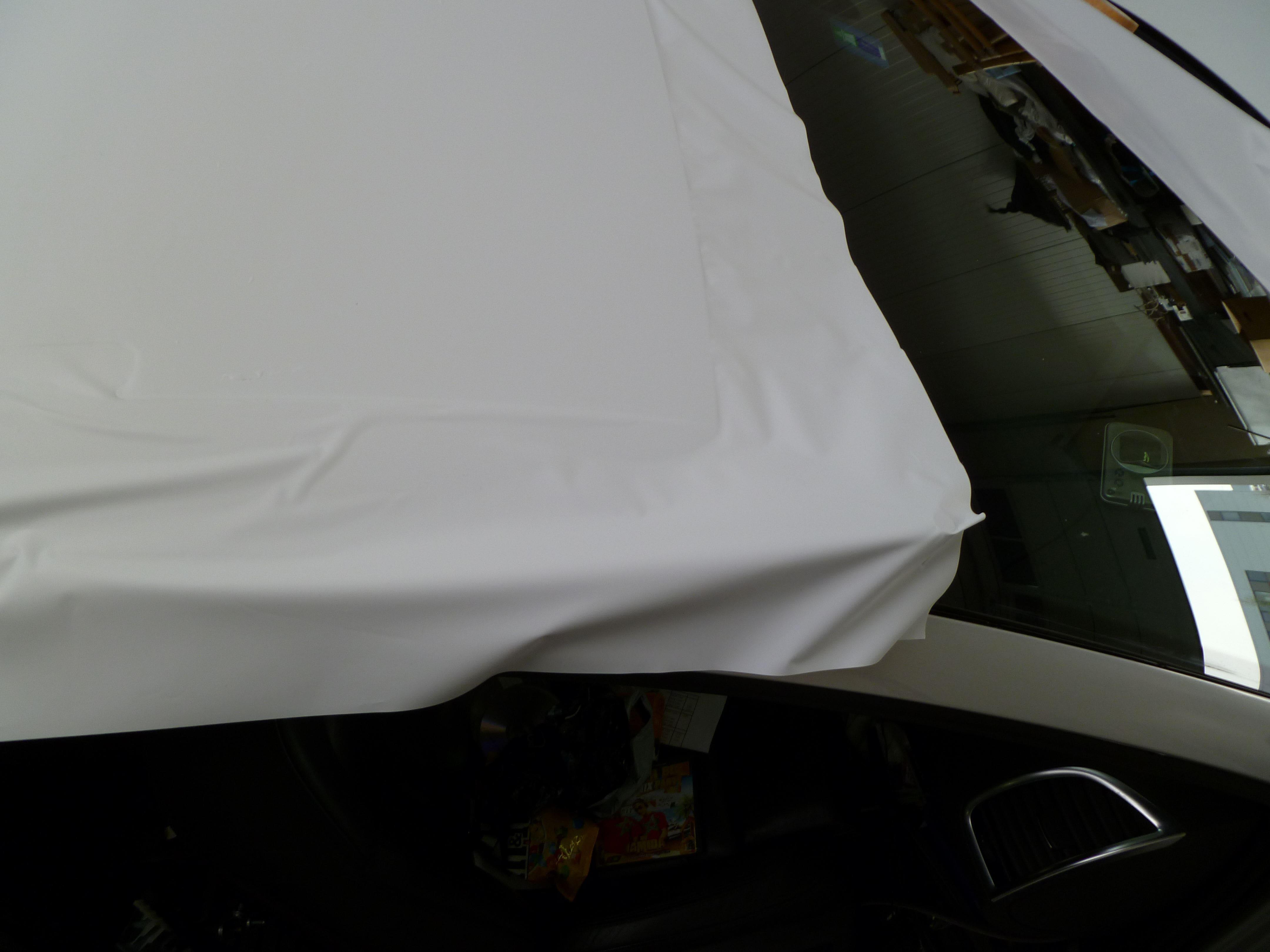 Audi Q7 met Mat Witte Wrap, Carwrapping door Wrapmyride.nu Foto-nr:4970, ©2021
