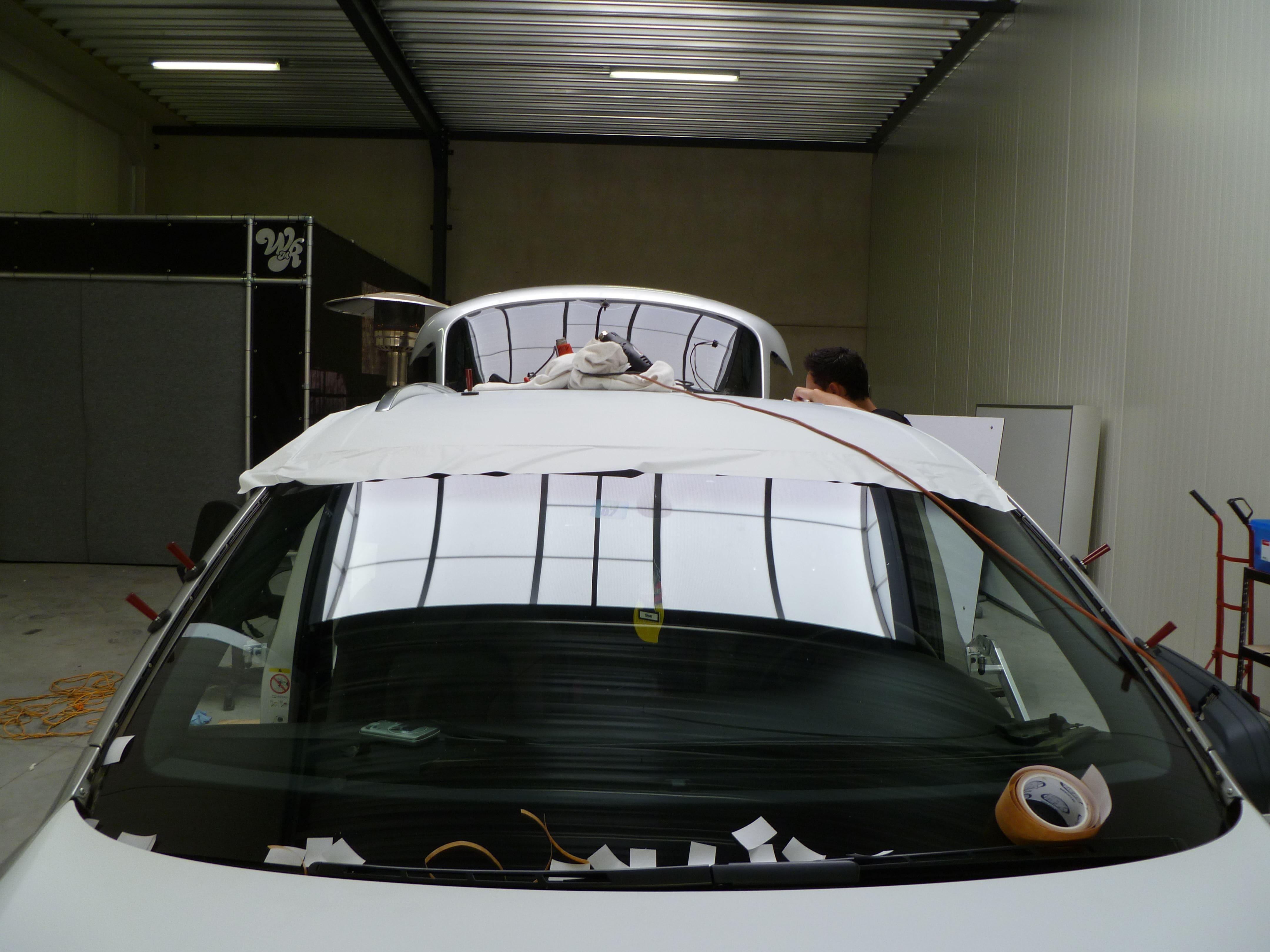 Audi Q7 met Mat Witte Wrap, Carwrapping door Wrapmyride.nu Foto-nr:4971, ©2021