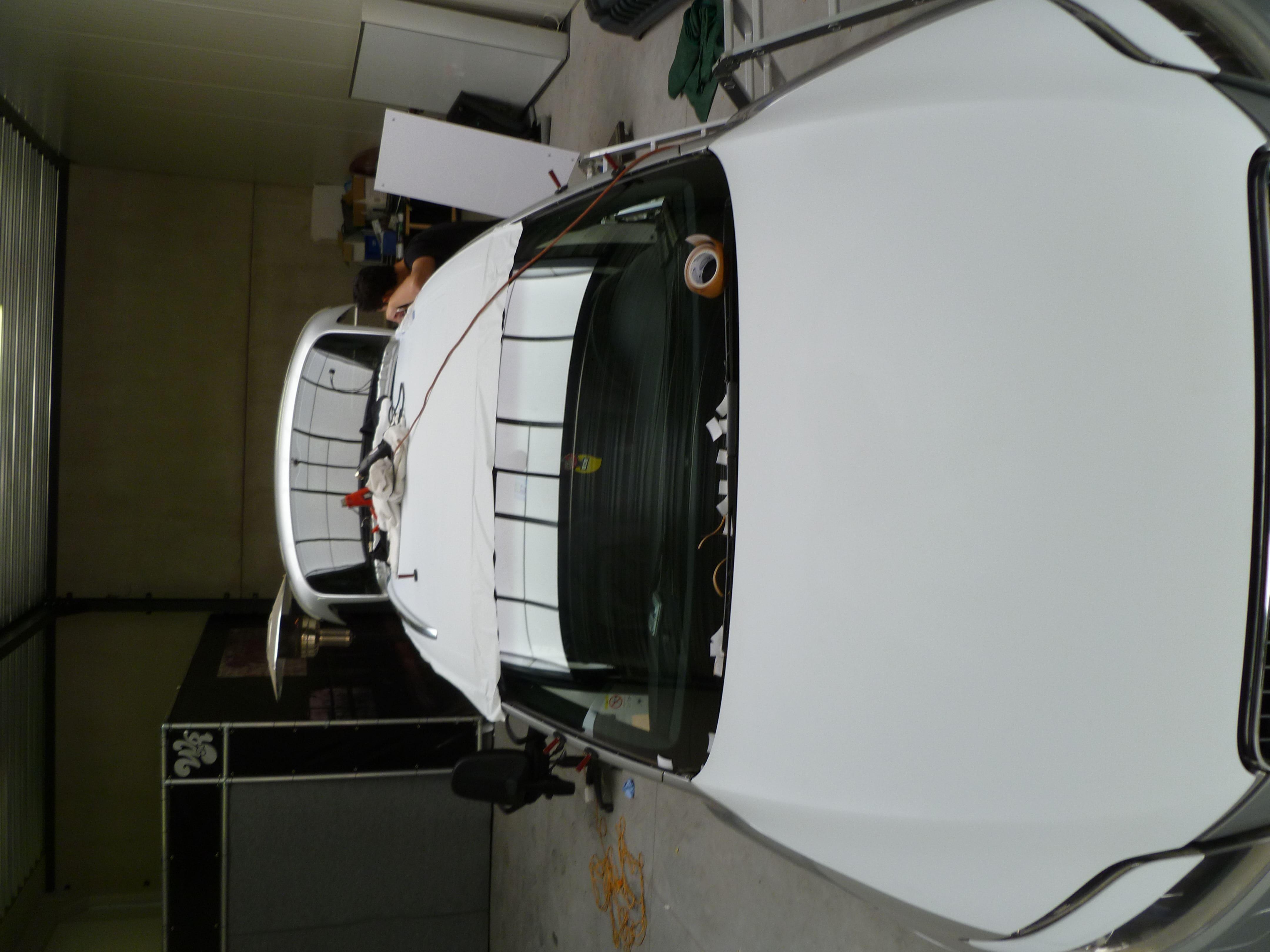 Audi Q7 met Mat Witte Wrap, Carwrapping door Wrapmyride.nu Foto-nr:4972, ©2021