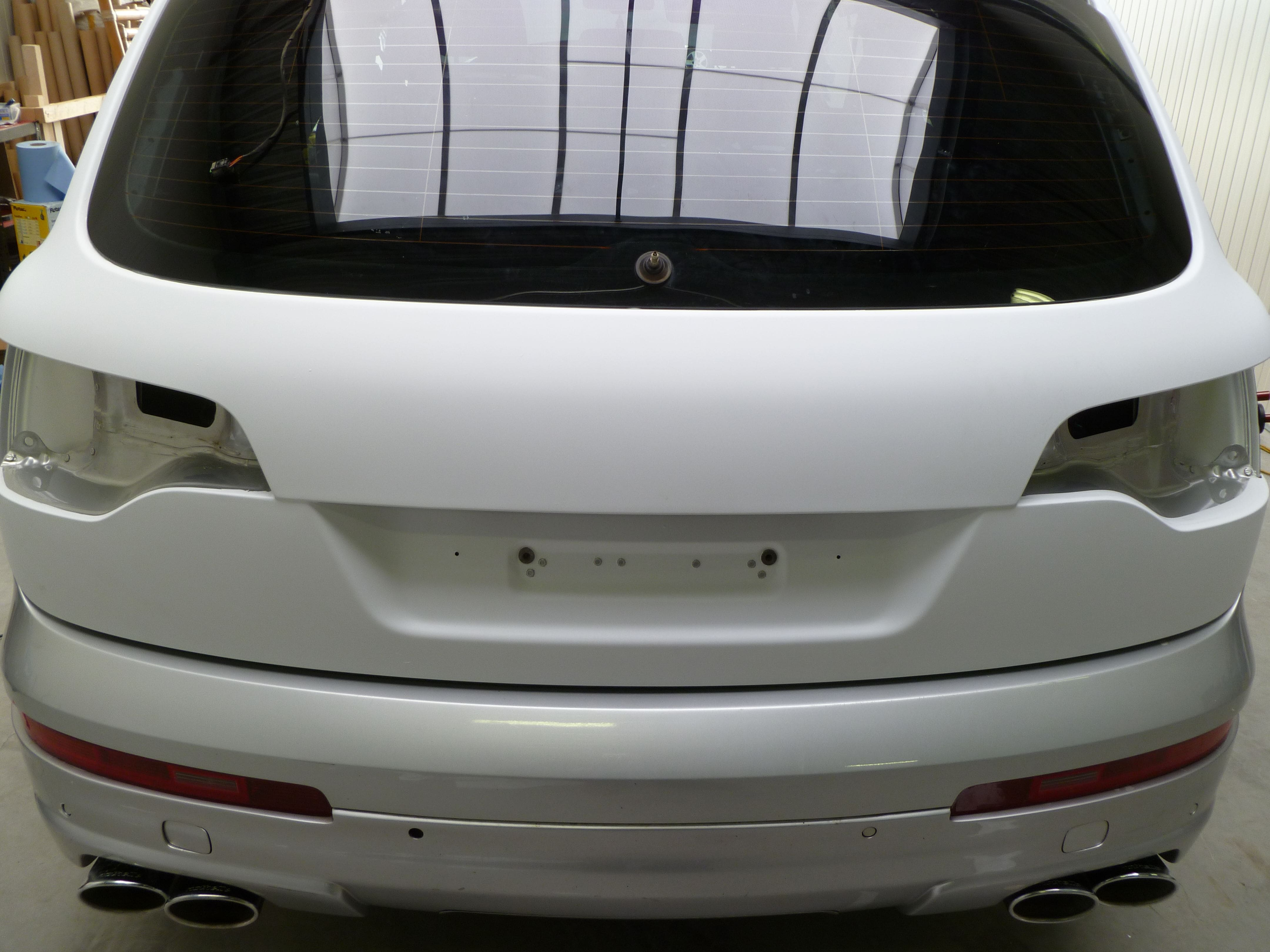Audi Q7 met Mat Witte Wrap, Carwrapping door Wrapmyride.nu Foto-nr:4981, ©2021
