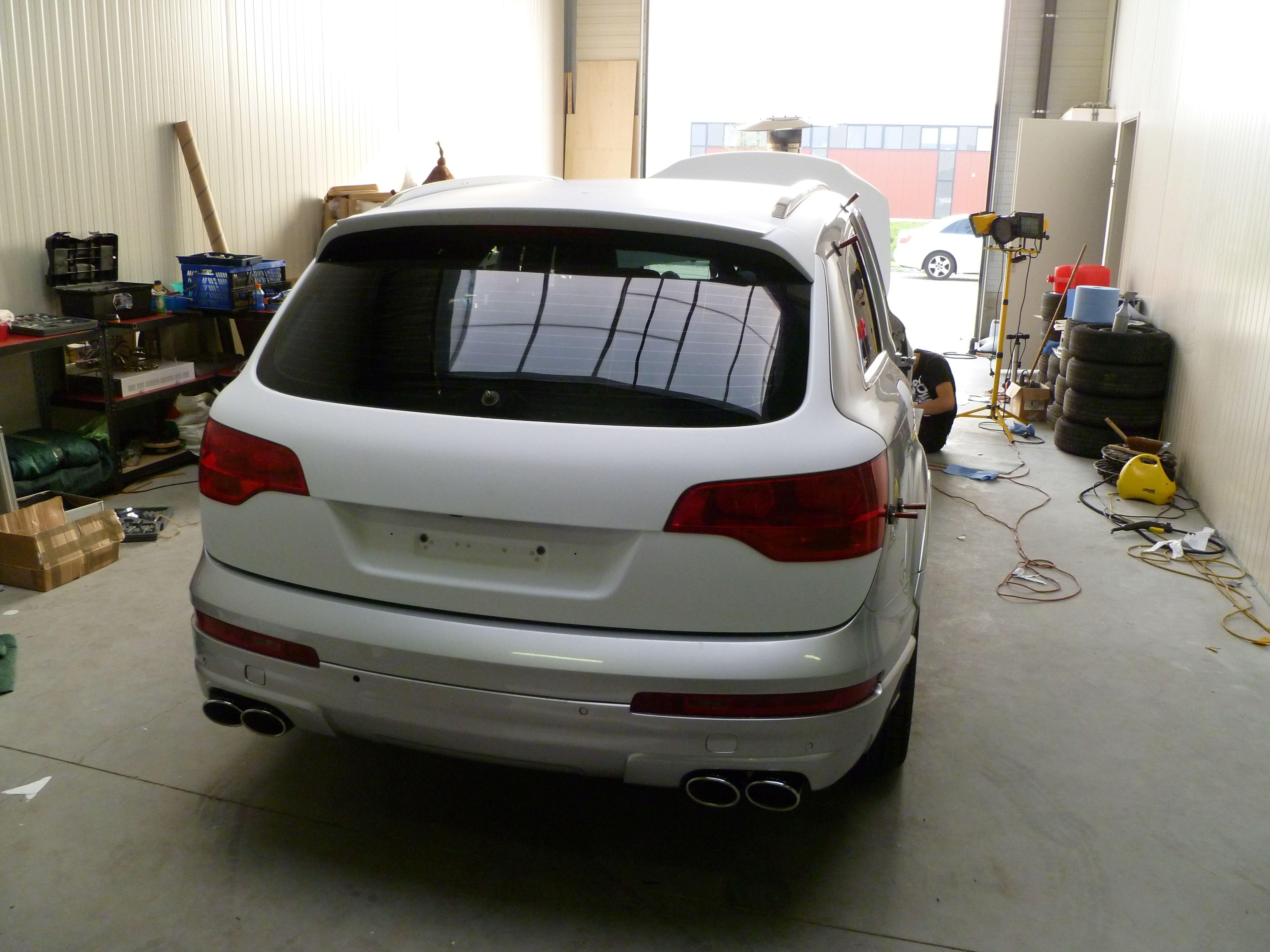 Audi Q7 met Mat Witte Wrap, Carwrapping door Wrapmyride.nu Foto-nr:4990, ©2021