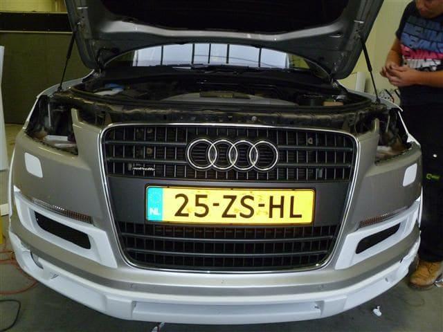 Audi Q7 met Mat Witte Wrap, Carwrapping door Wrapmyride.nu Foto-nr:4994, ©2021