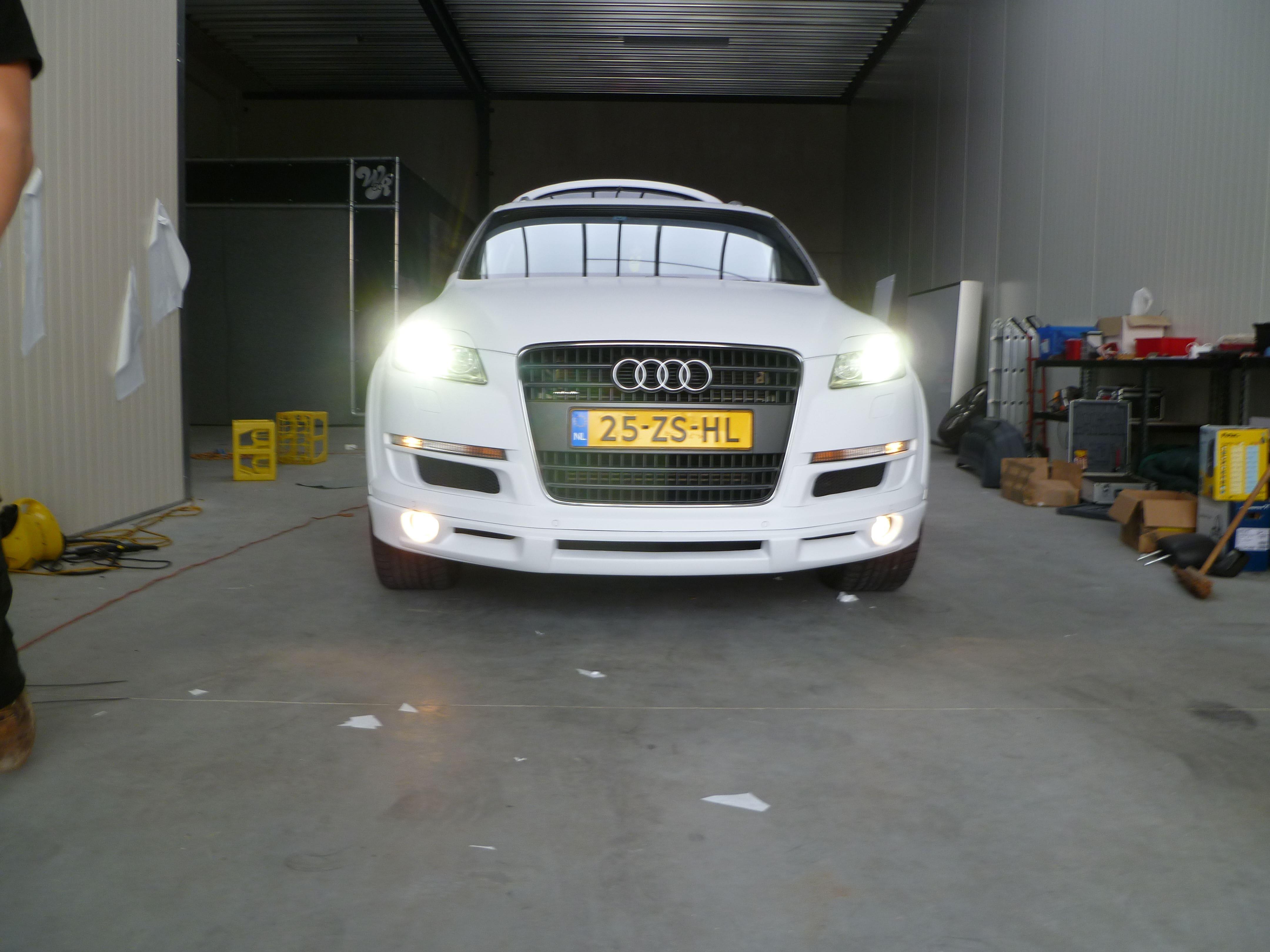 Audi Q7 met Mat Witte Wrap, Carwrapping door Wrapmyride.nu Foto-nr:5003, ©2021