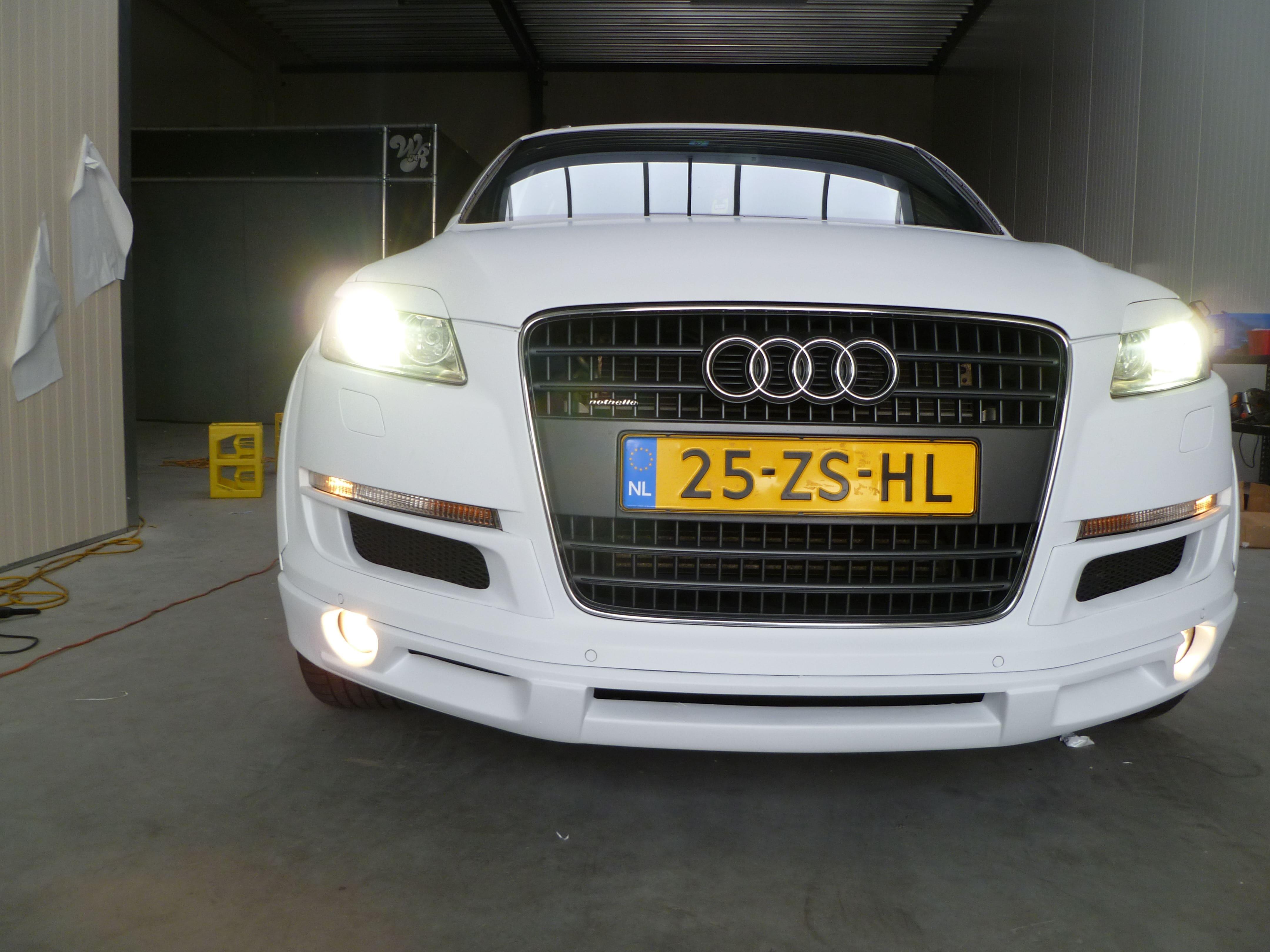 Audi Q7 met Mat Witte Wrap, Carwrapping door Wrapmyride.nu Foto-nr:5004, ©2021