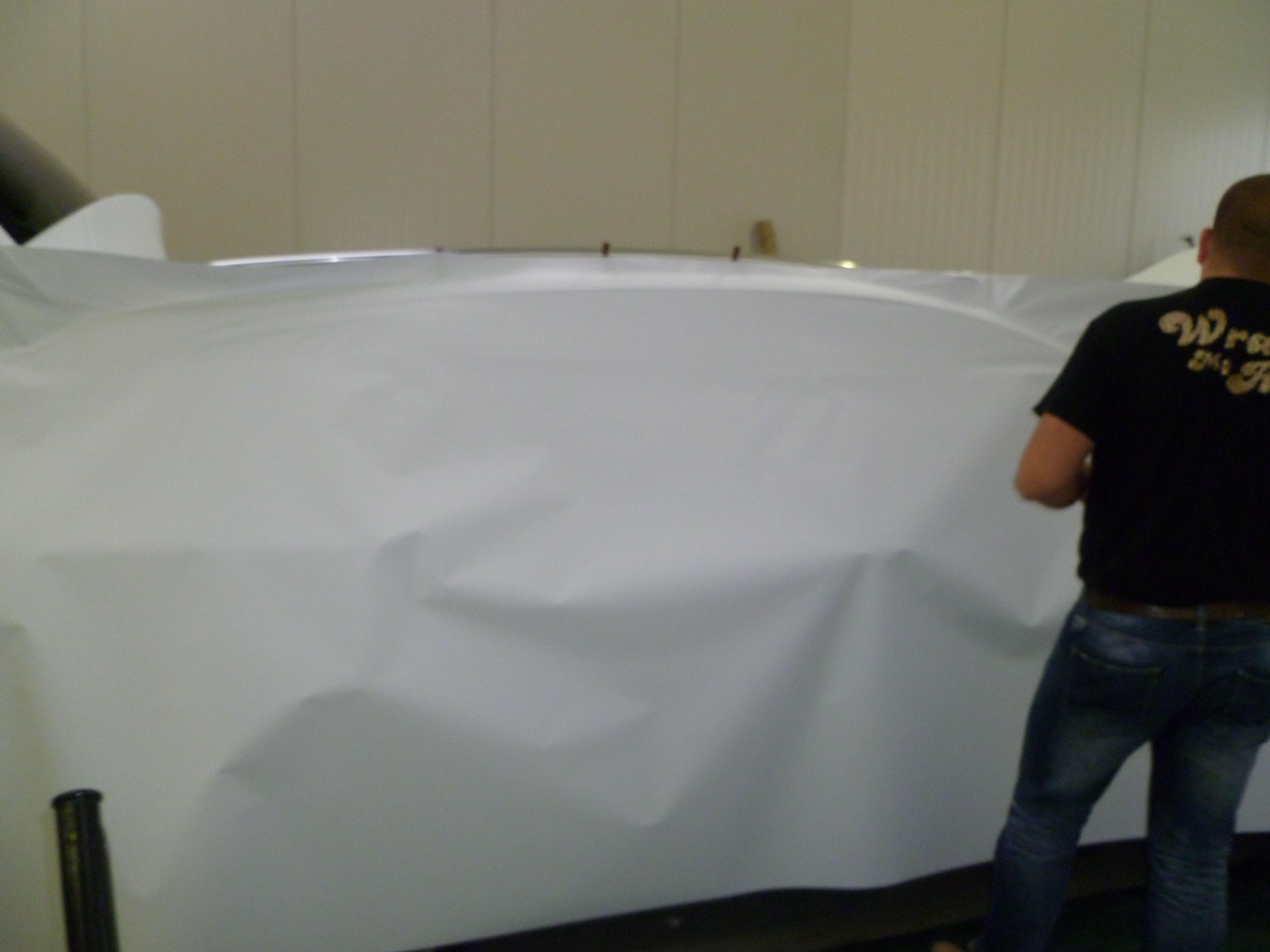 Audi Q7 met Mat Witte Wrap, Carwrapping door Wrapmyride.nu Foto-nr:5005, ©2021