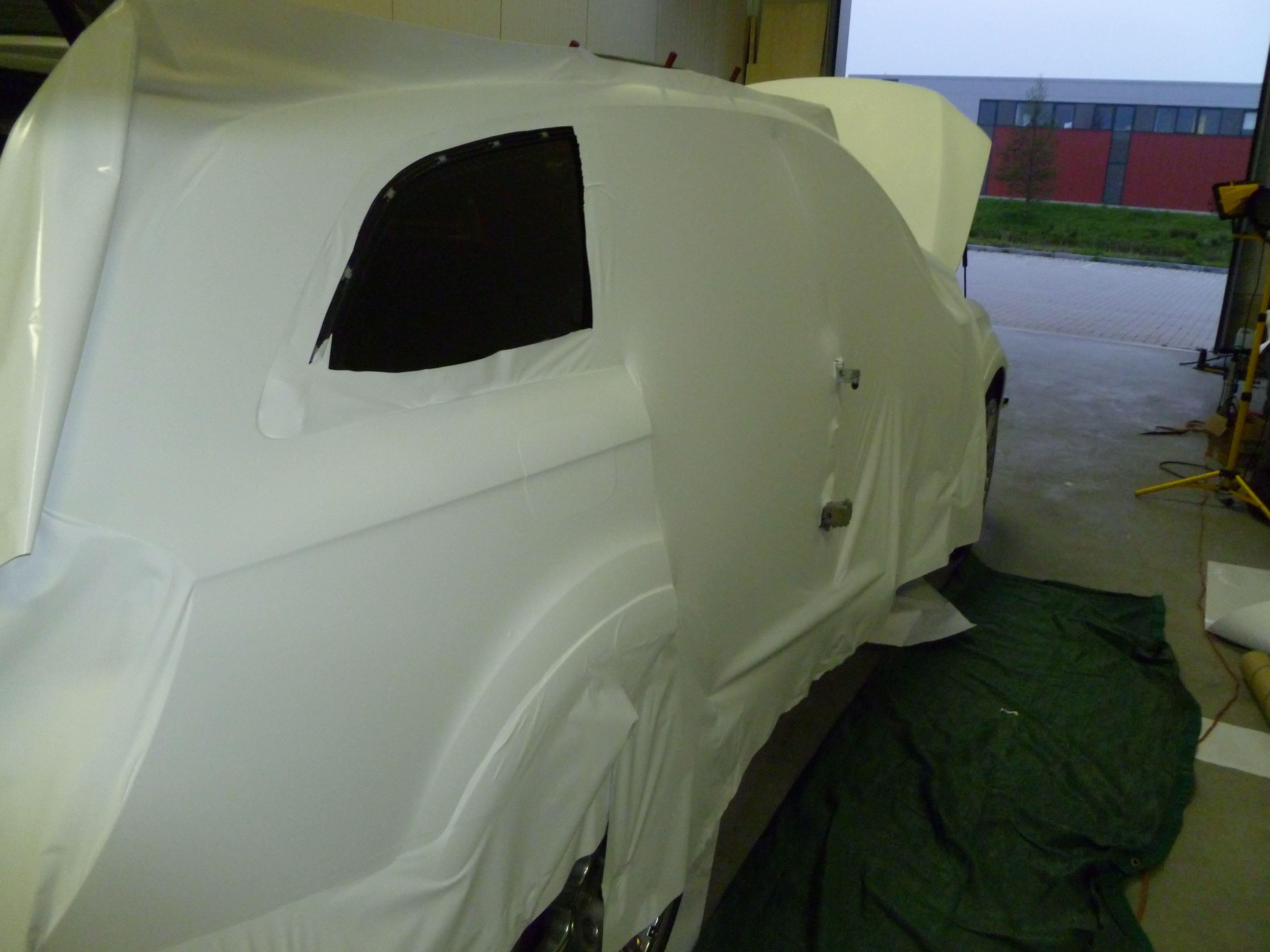 Audi Q7 met Mat Witte Wrap, Carwrapping door Wrapmyride.nu Foto-nr:5010, ©2021
