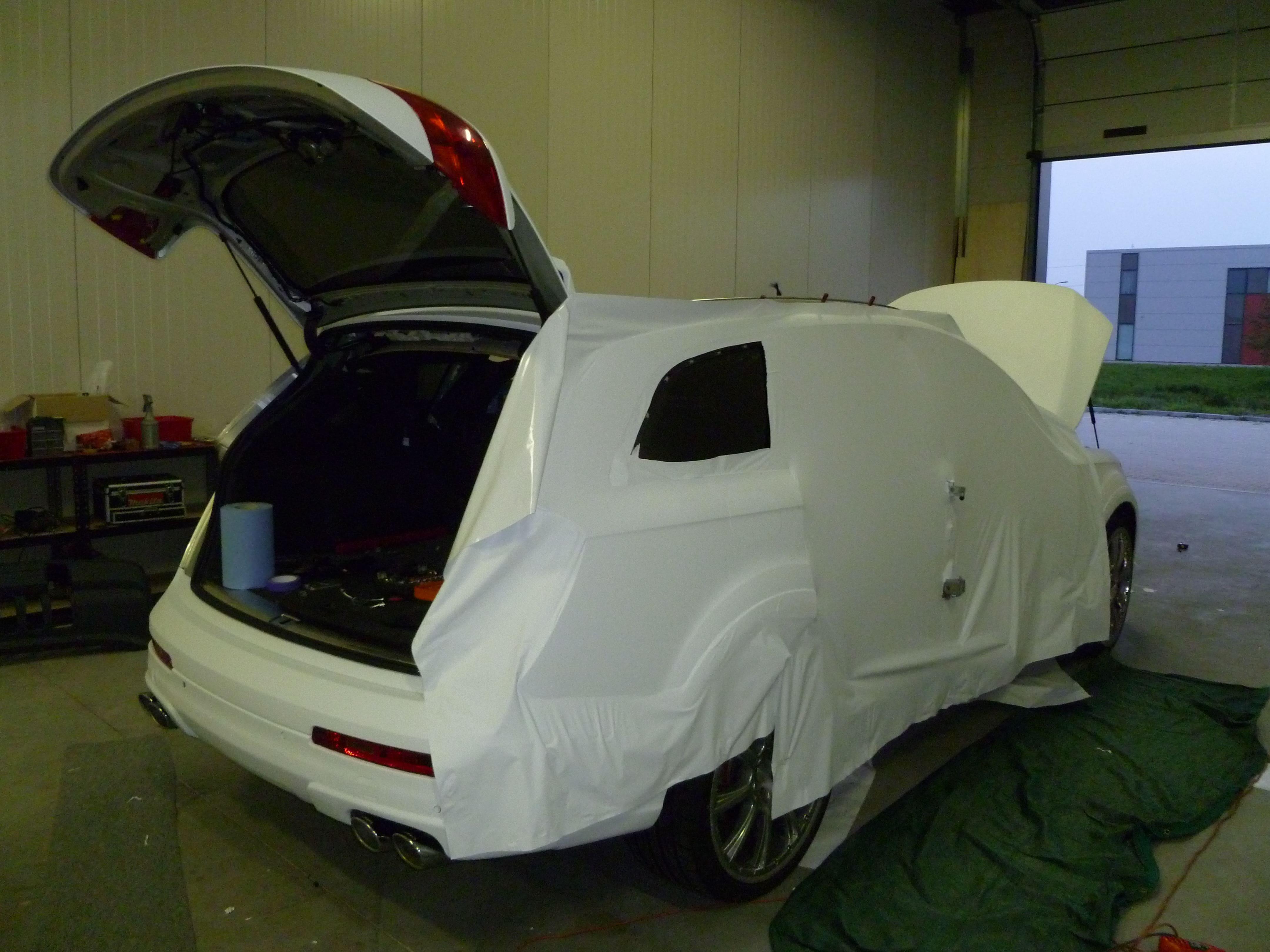 Audi Q7 met Mat Witte Wrap, Carwrapping door Wrapmyride.nu Foto-nr:5012, ©2021