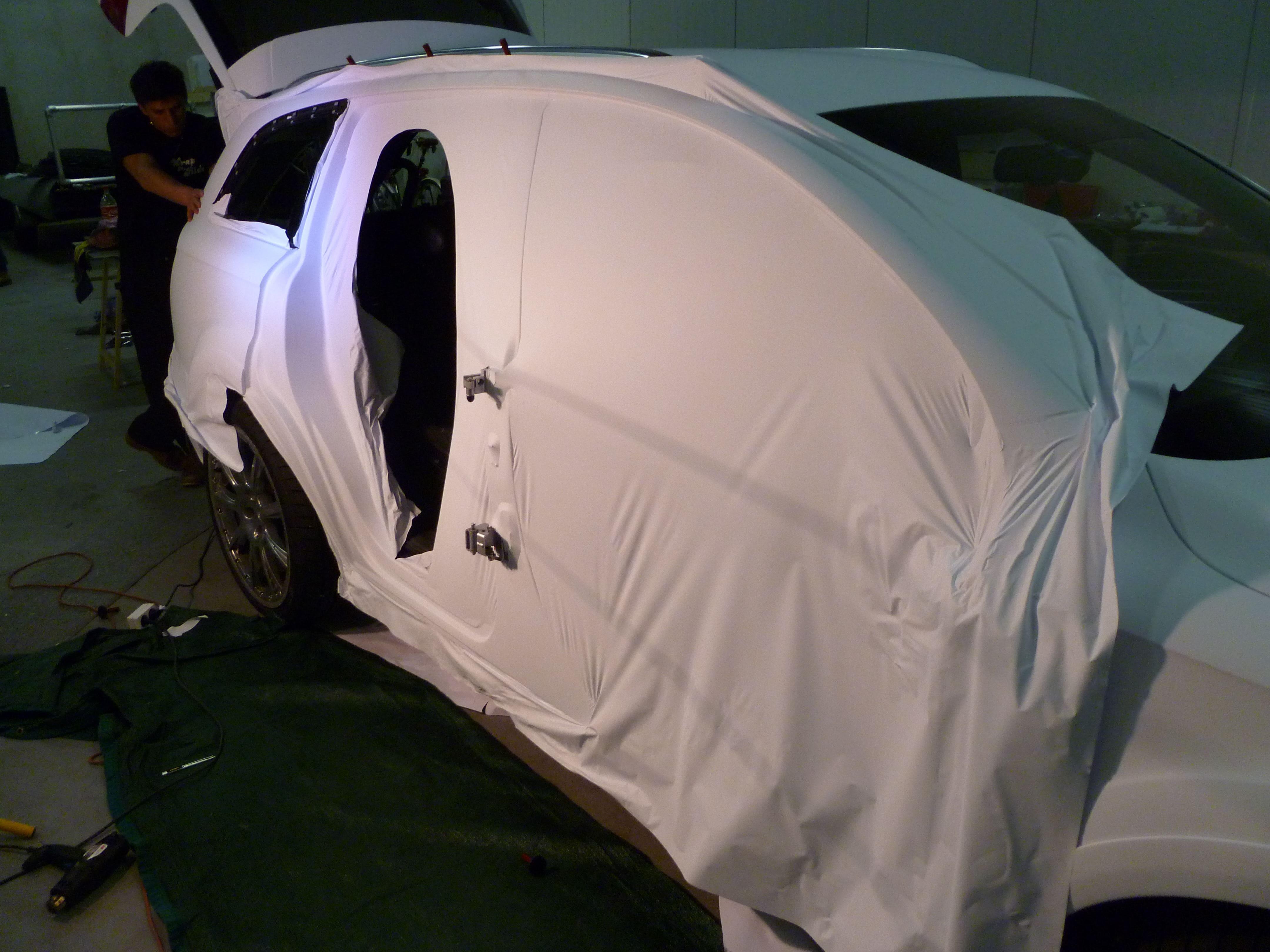 Audi Q7 met Mat Witte Wrap, Carwrapping door Wrapmyride.nu Foto-nr:5013, ©2021